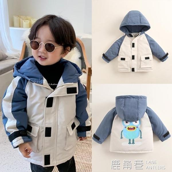 寶寶加厚兒童工裝羽絨棉服短款外套男童工裝棉衣女童新款冬裝棉襖『快速出貨』