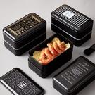 日式雙層便當盒辦公室中午帶飯盒可微波爐雙層分格壽司盒【快速出貨】