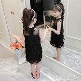 女童洋裝 女童連身裙韓版洋氣公主裙童裝兒童裙子背心裙潮 傾城小鋪