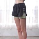 *╮寶琦華Bourdance╭*專業瑜珈韻律芭蕾**假兩件式短褲【Y21171】兩色
