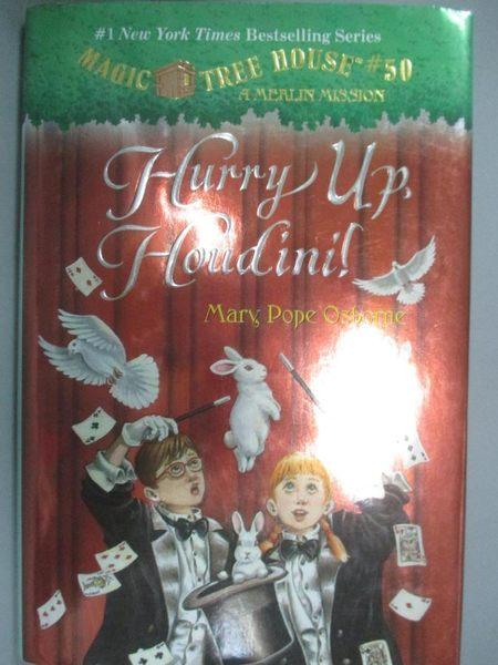 【書寶二手書T1/原文小說_HAF】Hurry Up, Houdini!_Osborne, Mary Pope/ Murdocca, Sal (ILT)