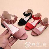 女童涼鞋2018新款夏季韓版中大童女孩小高跟公主鞋兒童涼鞋女學生