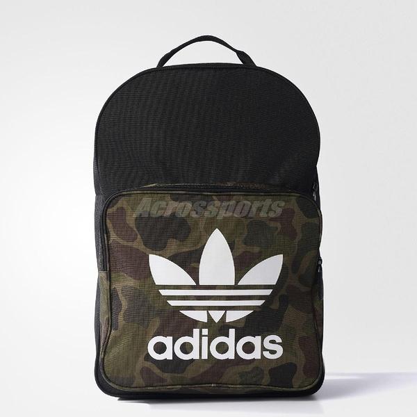 愛迪達 adidas Classic Camouflage Backpack 黑 白 迷彩 三葉草 雙肩 後背包【ACS】 BK7214