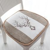 坐墊加厚坐墊家用綁帶冬季椅子墊椅墊北歐風簡約現代馬蹄形餐椅墊座 快速出貨