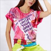 特色印花寬版T恤 TA523  (商品圖不含內搭)-百貨專櫃品牌 TOUCH AERO 瑜珈服有氧服韻律服