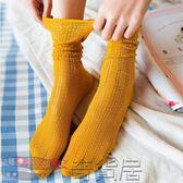黑五好物節 3雙裝堆堆襪春夏薄款中筒襪女透氣個性春秋長襪百搭鏤空小腿女襪【奇貨居】