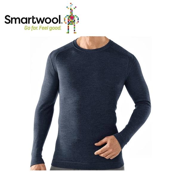 【美國 SmartWool 男NTS 250長袖衫《深海軍藍》】SW0SS600/長袖衛生衣/登山健行/保暖圓領