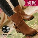 歐美休閒中筒馬丁靴【XK8809】32 低調時尚 入秋新品定番
