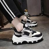 鬆糕鞋 鬆糕鞋女厚底加絨冬季女鞋新款秋鞋網紅老爹鞋百搭增高運動鞋