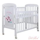 【愛吾兒】童心 Child Mind 小淘企白色嬰兒床 (附聚酯棉嬰幼兒床墊-內徑:60*120cm)