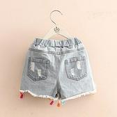 寶寶流蘇牛仔短褲 2020夏裝新款女童童裝兒童沙灘褲子