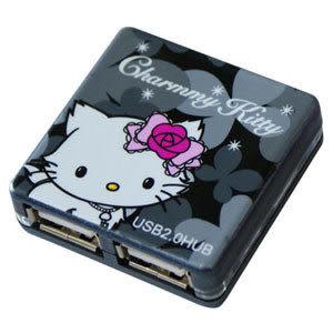 Charmmy Kitty 迷人黑USB2.0 4PORT HUB集線器