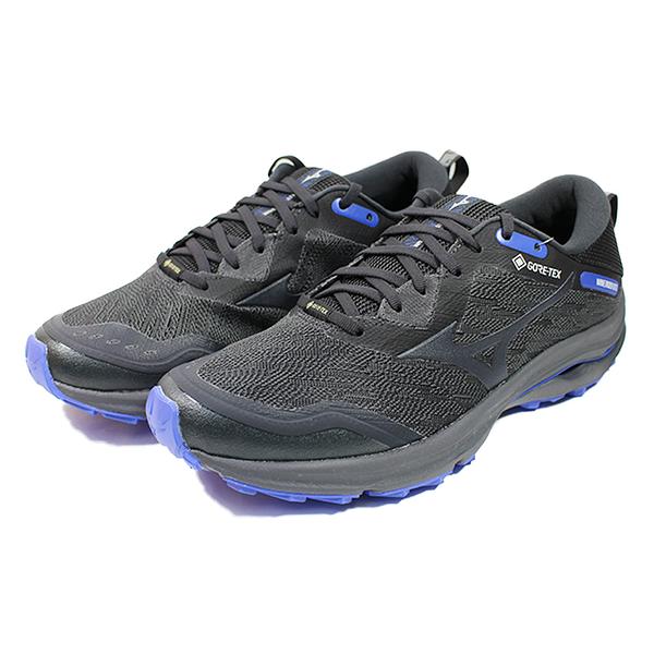 (C9) MIZUNO 美津濃 男鞋 WAVE RIDER GTX 慢跑鞋 運動鞋 J1GC217913 灰紫藍 [陽光樂活]