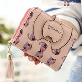 秒殺短夾韓版學生可愛貓咪短款錢包女兩折拉鍊小清新多功能女士折疊小錢夾 愛麗絲精品
