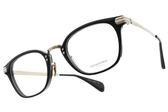 OLIVER PEOPLES 光學眼鏡 CHESSMAN 1005 (黑-銅) 質感雕花百搭款 平光鏡框 # 金橘眼鏡