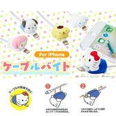 Hamee 日本正版 三麗鷗 CABLE BITE 咬線套 iPhone傳輸線 防斷保護套 (任選) 817911N