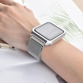 適用applewatch表帶iwatch4不銹鋼金屬磁吸iphoneseries男女  雙十二全館免運