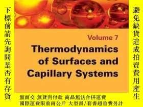 二手書博民逛書店Thermodynamics罕見of Surfaces and Capillary SystemsY41001