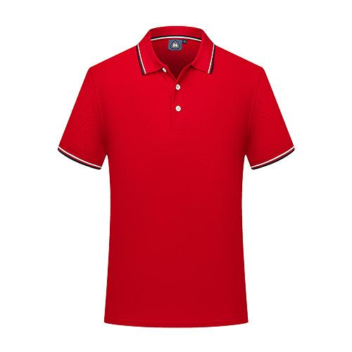 短袖純棉翻領Polo衫訂做班服工作服logo紅色T恤【96301-30】【7色S~4XL XS~6S】*86精品女人國*