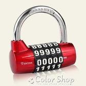 防盜鎖5位數字密碼鎖掛鎖合金鎖健身房庫房鎖K25003    color shop