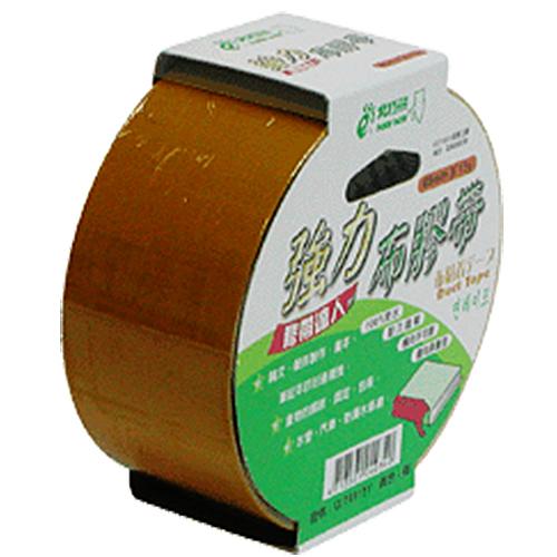 【奇奇文具】北極熊 CLT4815I 48mm×15yds 棕色布紋書背膠帶