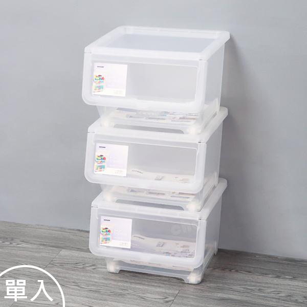 聯府直取式收納箱中20L(單入)掀蓋式整理箱玩具置物箱LF-520-大廚師百貨