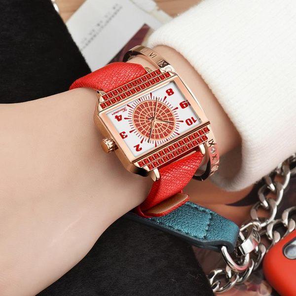 手錶 賓卡達正品方形手表女士時尚潮流女表石英表防水皮帶韓版簡約 【美斯特精品】