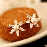 耳環 玫瑰金純銀珍珠-迷人璀璨生日情人節禮物女飾品73ca248【時尚巴黎】