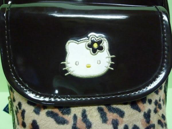 【震撼精品百貨】Hello Kitty 凱蒂貓~手提袋『亮皮豹紋』