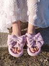 蝴蝶結拖鞋女夏外穿厚底