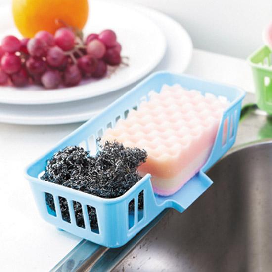 水槽 多用 洗碗 海綿 瀝水架 收納籃 炫彩 多功能 碗盤架 餐具架 收納【S039】米菈生活館