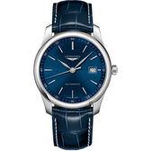 LONGINES浪琴 Master 巨擘機械錶-藍/39mm L27934920