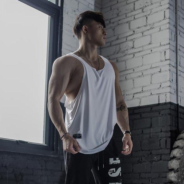 運動背心男士潮牌工字型寬鬆夏季健身房訓練健美透氣速乾無袖t恤 小宅女