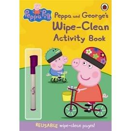 【粉紅豬小妹.擦寫練習書】 PEPPA AND GEORGES WIPE-CLEAN ACTIVITY BK #附筆