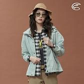 ADISI 女單件式防水透氣裡毛尼網外套(可拆帽) AJ1821031 (S-2XL) / 城市綠洲 (毛尼網裡 風衣 登山外套)