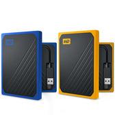 WD My Passport Go 500GB(琥珀黃/深藍) 外接式固態硬碟