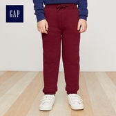 Gap男童 純色保暖休閒縮口褲 394963-酒紅色