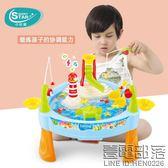 兒童釣魚玩具池套裝男女孩1236歲寶寶小貓電動釣魚磁性益智玩具【壹電部落】
