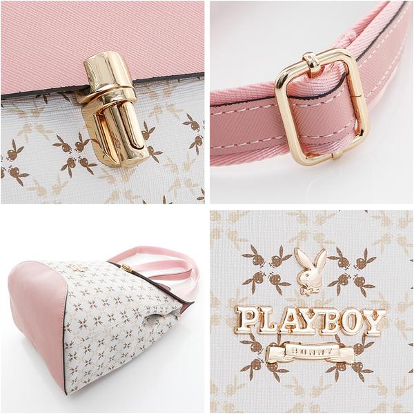 PLAYBOY- 翻蓋後背包 夢幻兔 Dream系列-甜美粉