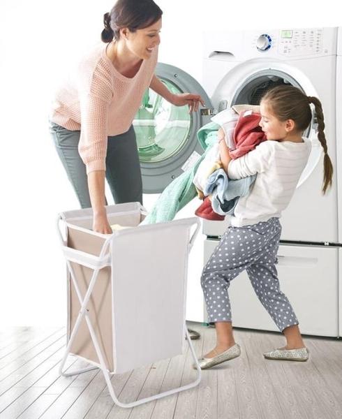 髒衣服收納筐摺疊帶蓋髒衣簍