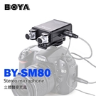 【EC數位】BOYA BY-SM80 立體聲麥克風 多向收音 機頂 攝影機 單眼相機 錄影 訪談