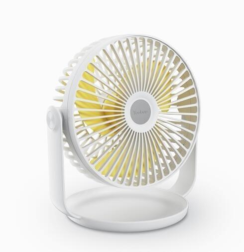 羽博超靜音台式辦公室桌面USB小風扇大風力學生宿舍床上 韓美e站