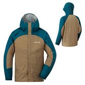 [好也戶外]mont-bell THUNDER PASS男款連帽風雨衣/汽油藍-黃褐 No.1128344DM-BN