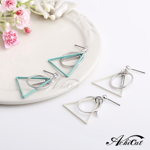 AchiCat女生耳環幾何空間 耳針式 抗過敏鋼針 一副價格 G7060/