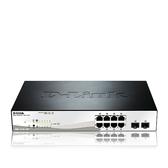 D-Link 友訊 DGS-1210-10P 8埠 Gigabit smart PoE + 2 SFP埠 智慧型 網管 交換器