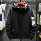 男士外套簡約 潮流外套潮牌外衣 男外套工裝機能韓版外套 秋季休閒日系夾克外套 時尚男生外套