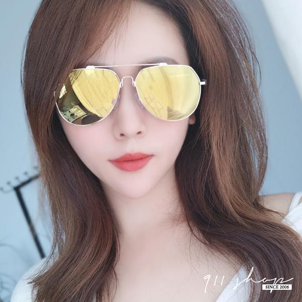 Hoax.台灣製。鋁鎂合金細橢圓框水銀偏光太陽眼鏡【f5054】911 SHOP