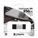 新風尚潮流 【DT80/256GB】 金士頓 高速隨身碟 256G DT80 USB 3.2 TYPE-C 讀200MB