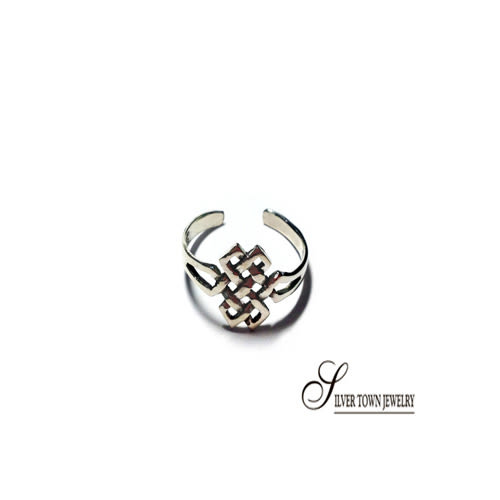 SilverTown銀鎮 交叉對稱造型純銀戒指