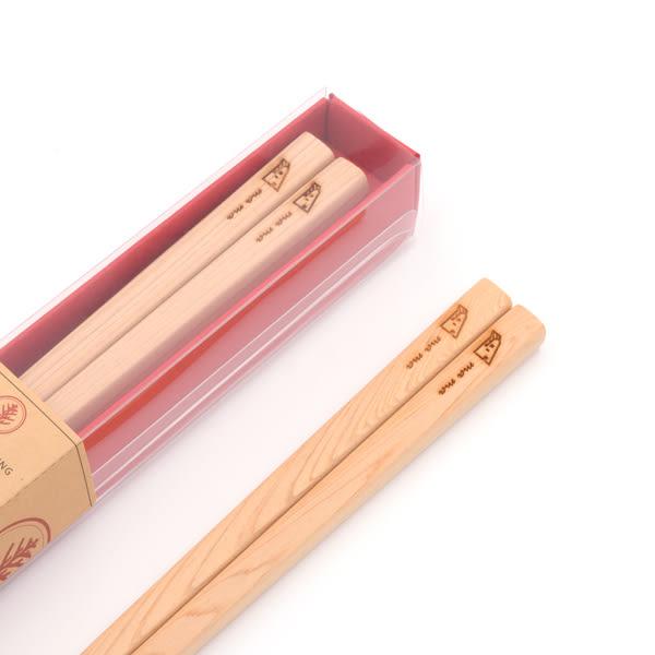 台灣檜木箸禮盒-我的媽媽 一家人檜木餐具筷子,可另外雷射雕刻刻字,檜木環保筷無漆木筷祝賀